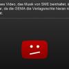 Das tut uns leid – GEMA fordert Gebühr für eingebettete Youtube-Videos